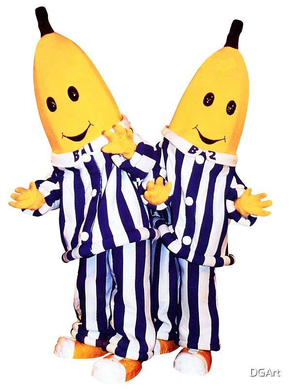 Quot Bananas In Pajamas B1 And B2 Quot Stickers By Dgart Redbubble