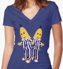 Bananas in Pajamas - B1 and B2 Women's Fitted V-Neck T-Shirt