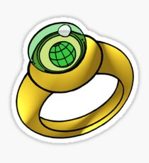 Planeteer Ring - Earth - Large image Sticker