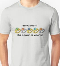 Planeteer Rings - Go Planet! - Black Font T-Shirt