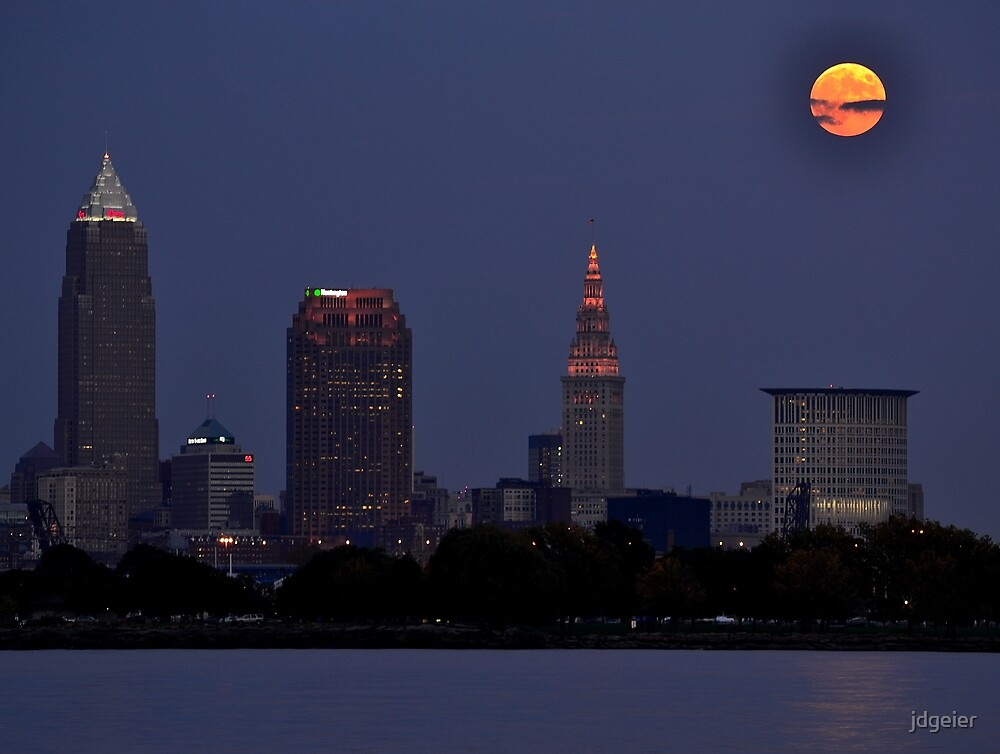 Moon over Cleveland 2 by jdgeier