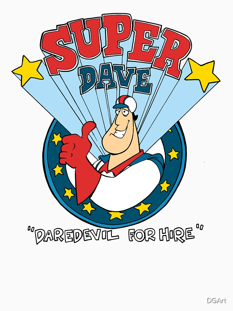 Super Dave: Daredevil for Hire - Logo by DGArt