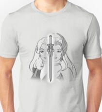 She-Ra Princess of Power - Adora/She-Ra/Sword - Black & White T-Shirt