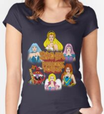 She-Ra Princess of Power - Girls of The Great Rebellion - Color Women's Fitted Scoop T-Shirt