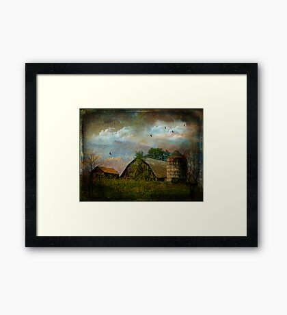 Clouds Above the Barn Framed Print