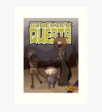Sidekick Quests Walking Dead Print Art Print