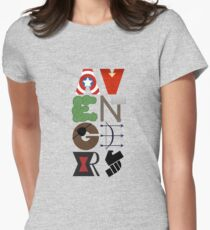 Avengers Typography Women's Fitted T-Shirt