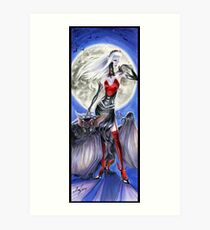 Monster Mistress Vampire Art Print