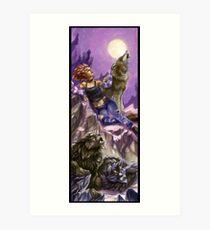Monster Mistress Werewolf Art Print