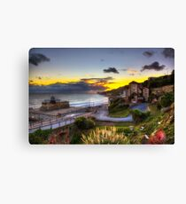 Ventnor Town Sunset Canvas Print