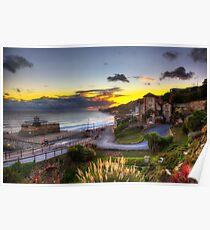 Ventnor Town Sunset Poster