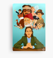 The World of Wes Anderson Metal Print