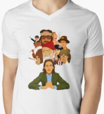 The World of Wes Anderson Men's V-Neck T-Shirt