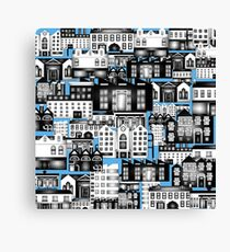 SPLASHYARTYSTORY - ALL ABOUT BUILDINGS blue Canvas Print