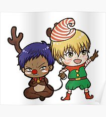 Aomine the red nose reindeer Poster