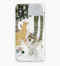 Christmas tree decorating iPhone Case