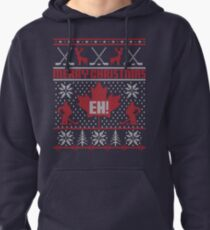 Canadian Christmas Ugly Sweater Pullover Hoodie