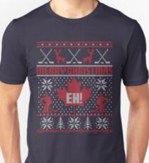 Camiseta ajustada Suéter feo de Navidad canadiense