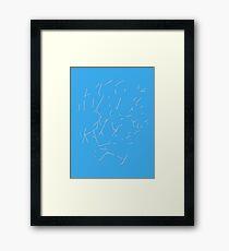 Markings Framed Print