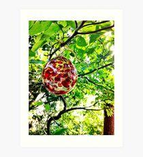 Glass Globe in the Garden Art Print
