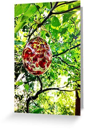 Glass Globe in the Garden by OneDayArt