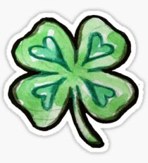 Lucky Shamrock love Sticker