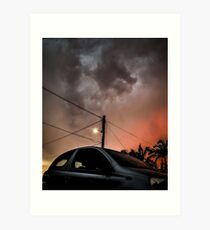Hatchback vs the Apocalypse  Art Print