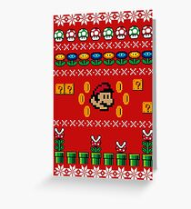 Super Mario Ugly Sweater Greeting Card