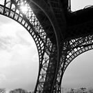 Pilier Sud - Eiffel Tower - Paris, France by Norman Repacholi
