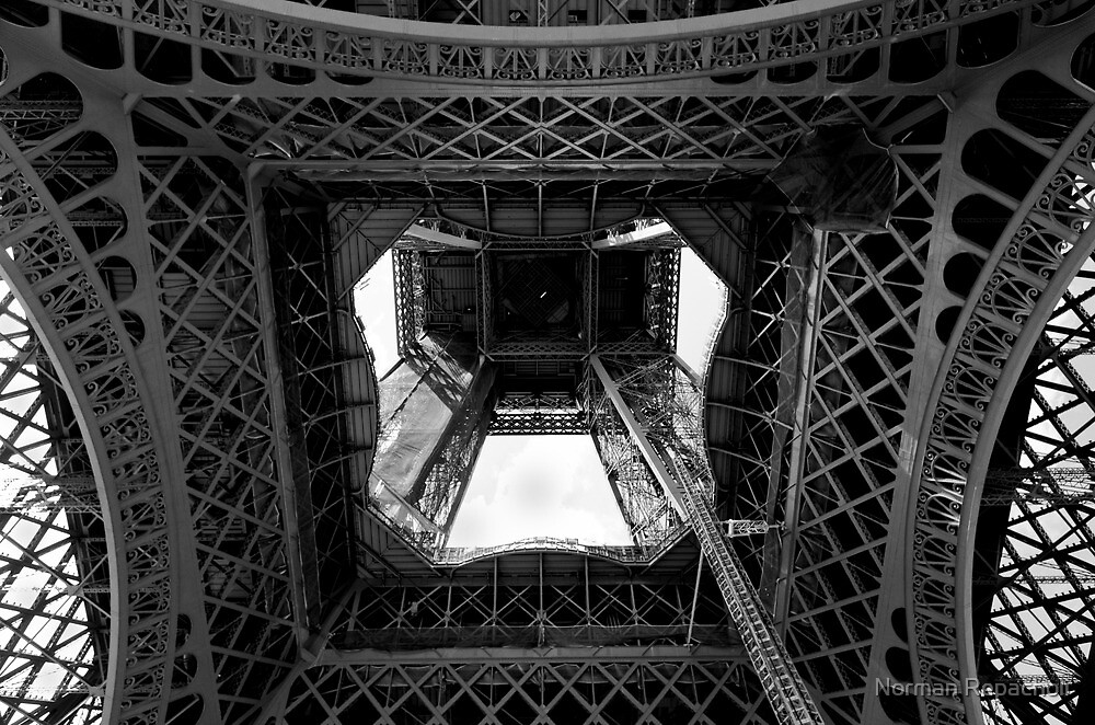 From the inside out - Eiffel Tower - Paris, France by Norman Repacholi
