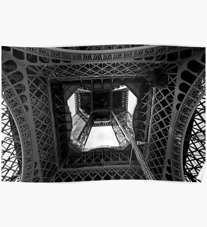 From the inside out - Eiffel Tower - Paris, France Poster