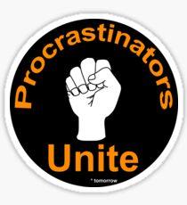 procrastinators Sticker