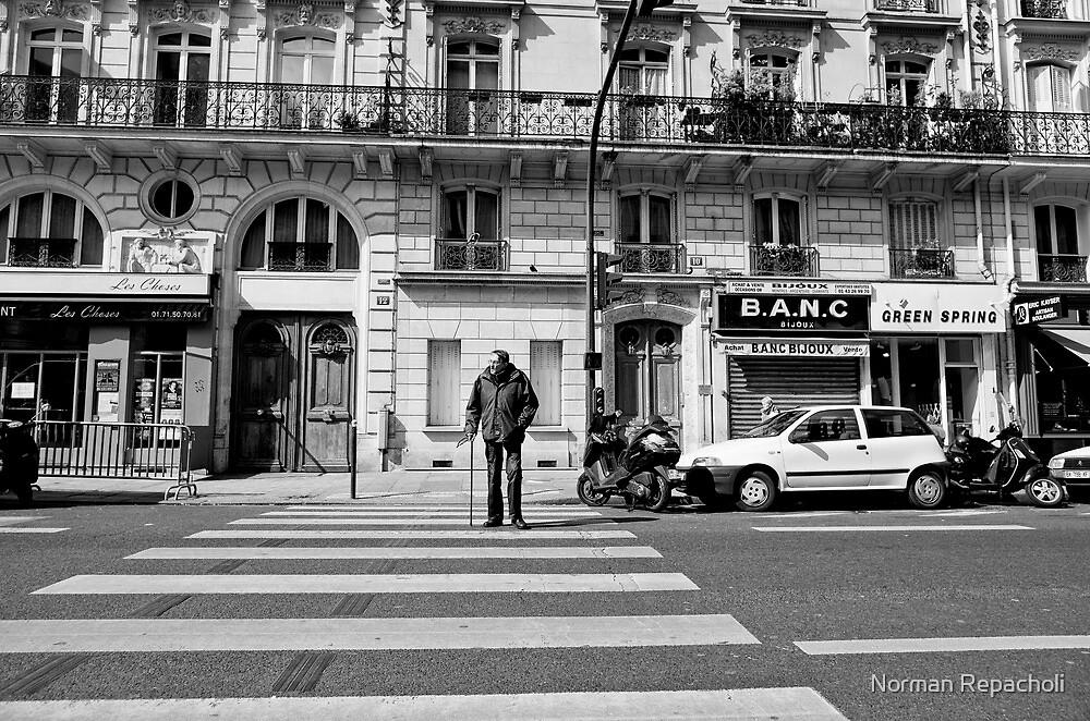 Crossing St Germaine - Paris, France by Norman Repacholi