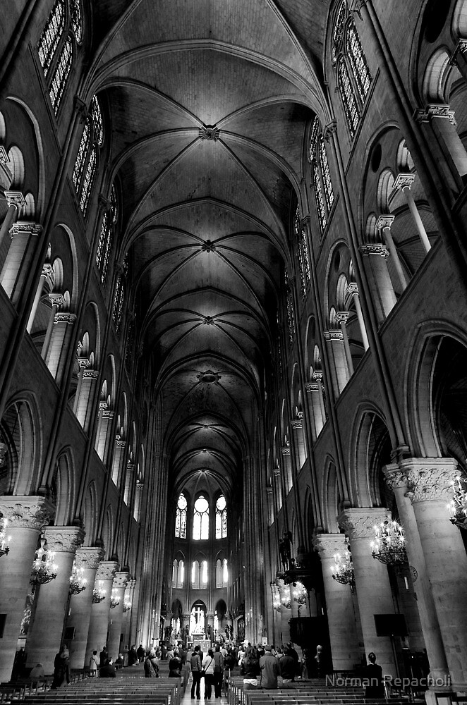Constructed in honor of faith - Notre Dame - Paris, France by Norman Repacholi