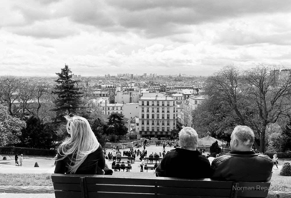 Best seats in the house - Sacre Cour - Paris, France by Norman Repacholi