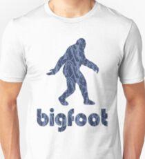 Bigfoot Blue Tiger Camouflage Unisex T-Shirt