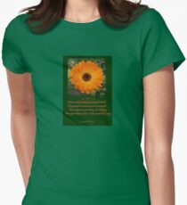When A Serious Musing I Behold Verse Greeting Womens Fitted T-Shirt