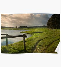 Green grass & good waters. Poster