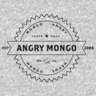 Angry Mongo Hipster Doofus Logo Outline by AngryMongo