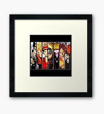 Manga Heroes Framed Print