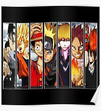 Manga Heroes Poster