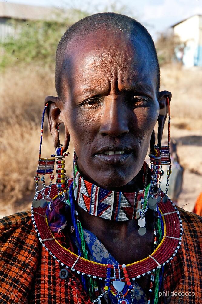 Masai Woman by phil decocco