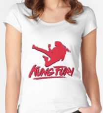 Kung Fury T-Shirt Women's Fitted Scoop T-Shirt
