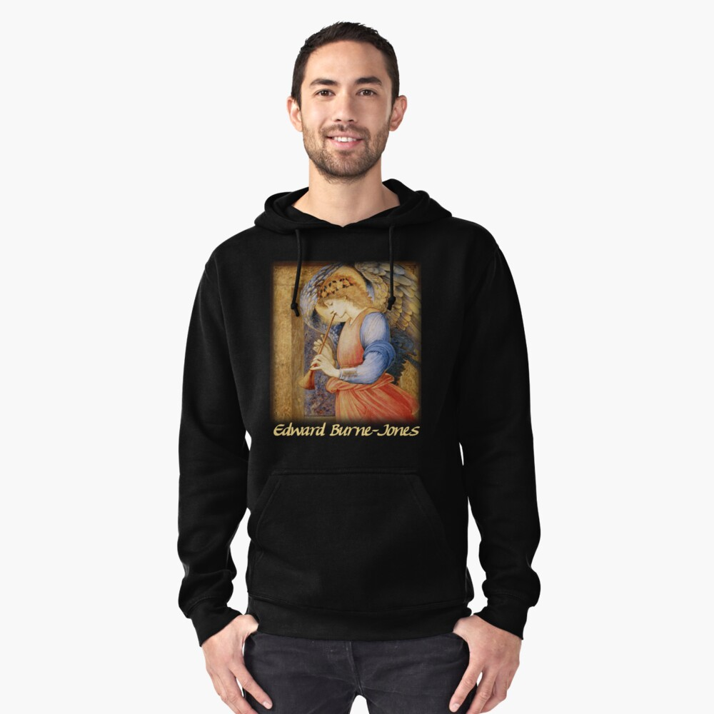 Burne-Jones - An Angel Playing a Flageolet Pullover Hoodie Front