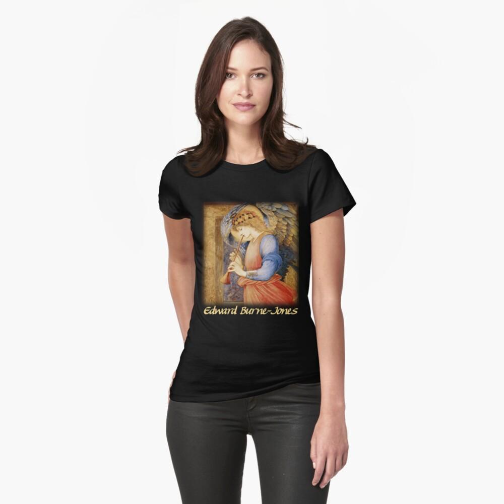 Burne-Jones - An Angel Playing a Flageolet Womens T-Shirt Front