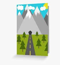 Nature Low-Poly Greeting Card