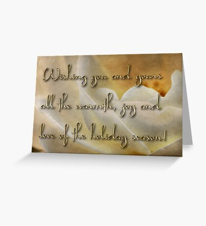 Candlelight rose - holiday card Greeting Card