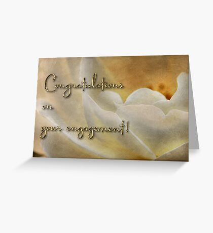 Candlelight rose - engagement card Greeting Card