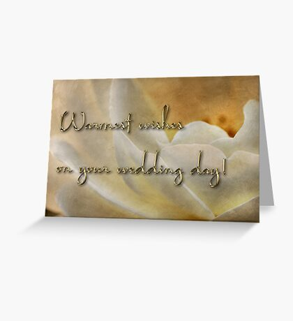Candlelight rose - wedding card Greeting Card