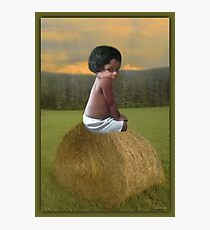 ✿♥‿♥✿COUNTRY SWEETNESS ON A BALE OF HAY✿♥‿♥✿ Photographic Print